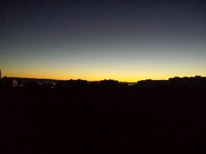 Sunrise on Saturday Morning.
