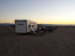 A few pics of our camp off N. Marina Drive Saturday morning