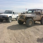 TDS and HJC Jeeps on the Trail during the 4-Wheel-To- Heel Run Saturday Morning